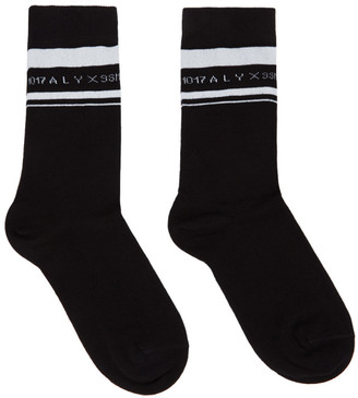 Alyx Black and White Horizontal Stripe Socks