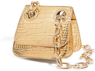 """House of Want """"H.O.W."""" We Are Original Shoulder Bag In Gold Croco"""