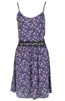 Select Fashion Fashion Womens Blue Floral Crochet Waist Cami Drs - size 10