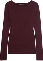 Maje Ribbed-knit Sweater - Burgundy