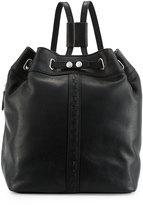 Kelsi Dagger Dusen Leather Drawstring Backpack, Black