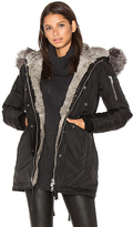 Nicole Benisti Melrose Golden Fox and Asiatic Rabbit Fur Lined Mini Parka