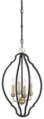 Charlton Homeâ® Moats Foyer 4-Light Globe Chandelier Charlton HomeA