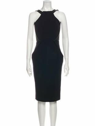 Dion Lee Square Neckline Midi Length Dress Black
