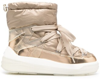 Moncler Lace-Up Ankle Boots