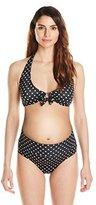 Prego Maternity Women's maternity Roll Waist Dot Bikini Set