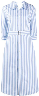 Marni Stripe Belted Cotton Shirt Dress