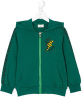 Fendi lightning bolt hoodie - kids - Cotton/Spandex/Elastane - 3 yrs