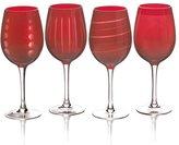 Mikasa Cheers Ruby Set of 4 Wine Glasses