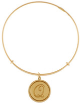 Alex and Ani 14K Gold Filled Initial Q Charm Wire Bangle