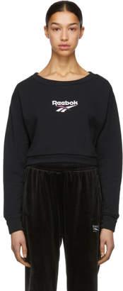 Vector Reebok Classics Black Crewneck Sweatshirt