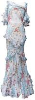 John Galliano Blue Silk Dress for Women Vintage
