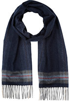 Colombo MEN'S PLAID CASHMERE-SILK SCARF