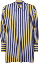Vivienne Westwood Night Shirt Blue/Yellow Stripes Size 44