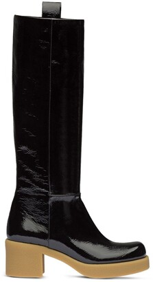 Miu Miu Pull-Tab Knee-High Boots