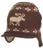 Moose Fair Isle Sweater Hat