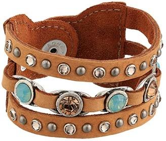 Leather Rock Ida Bracelet (Dark Beige) Bracelet