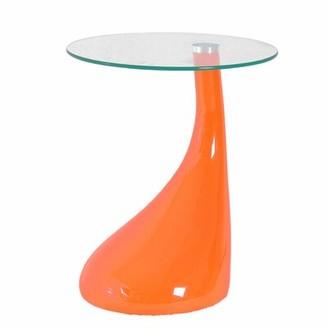 Wade Logan Cristian End Table Color: Orange