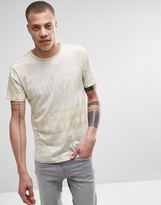 Weekday Jones Camo Print T-Shirt in Beige