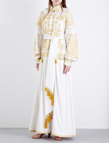 Yuliya Magdych Embroidered linen dress