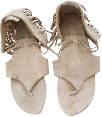 Benetton Ecru Suede Sandals