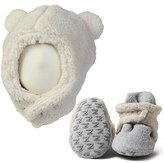 Zutano Infant Furry Bear Hat & Gripper Bootie Set