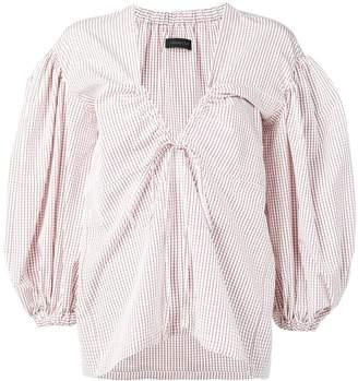 Eudon Choi oversized check blouse
