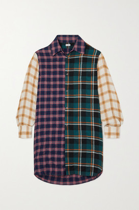 Loewe Patchworked Checked Modal-blend Shirt - Purple