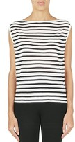 Alexander Wang Striped Boat Neck Muscle Tee