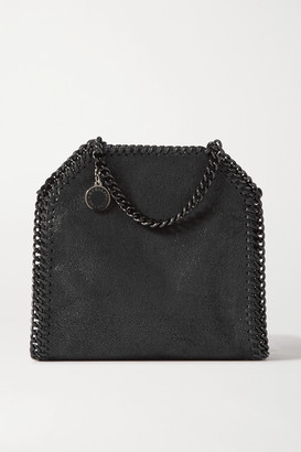 Stella McCartney The Falabella Tiny Vegetarian Brushed-leather Shoulder Bag - Black