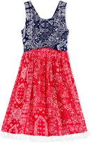 Bonnie Jean Peek-A-Boo Waist Sundress, Big Girls (7-16)