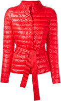 Herno belted puffer jacket - women - Polyamide/Acetate/Cotton/Feather Down - 40