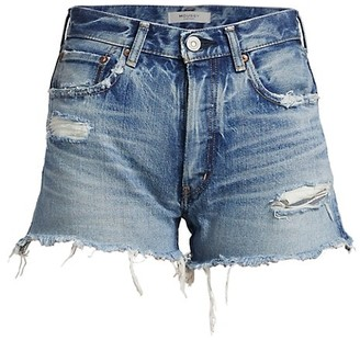 Moussy Packard Distressed Denim Shorts