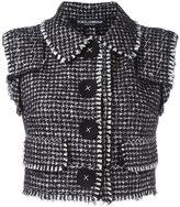 Dolce & Gabbana bouclé gilet - women - Silk/Cotton/Polyamide/Virgin Wool - 42