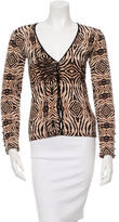 Roberto Cavalli Printed Long Sleeve Cardigan