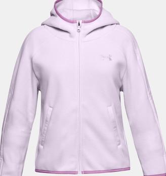 Under Armour Girls' UA Winter Weight Fleece Full Zip Hoodie