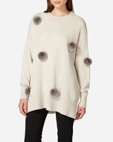 N.Peal Fur Pom Cashmere Tunic