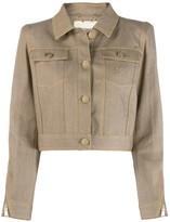 Fendi Karligraphy cropped denim jacket