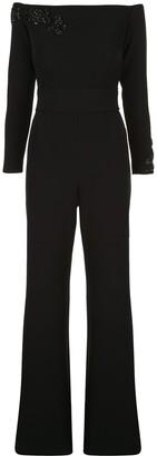 Safiyaa Embellished Off-Shoulder Jumpsuit