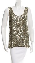 Alice + Olivia Sleeveless Sequin Tank
