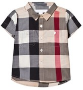 Burberry Beige New Classic Check Short Sleeve Shirt