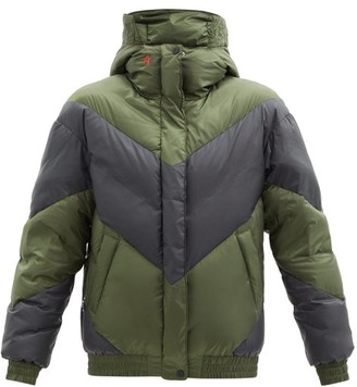Perfect Moment Aspen Chevron-quilted Down Ski Jacket - Black Green
