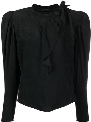 Isabel Marant Structured-Shoulder Blouse