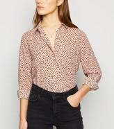 New Look Petite Spot Print Long Sleeve Shirt