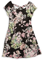 Sally Miller Girls 7-16 Floral Lace Fit and Flare Dress