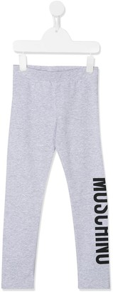 MOSCHINO BAMBINO Logo Print Sweat Pants