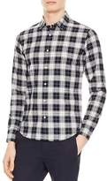 Sandro Check Slim Fit Button-Down Shirt