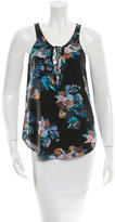 Rory Beca Printed Silk Top w/ Tags