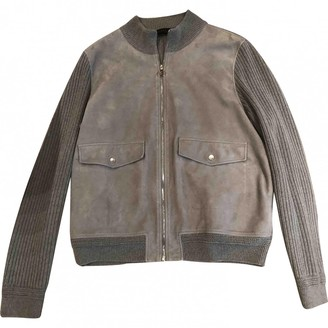 Louis Vuitton Grey Leather Jackets