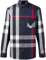 Burberry longsleeve checked shirt - men - Cotton/Polyamide/Spandex/Elastane - M